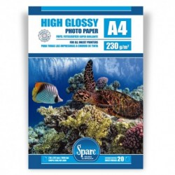 PAPEL FOTO PREMIUM  A4 - 20 HOJAS - 230 grs - GLOSSY