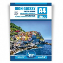 PAPEL FOTO A4 - 180 g - GLOSSY PREMIUM - 20 HOJAS