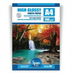 PAPEL FOTO A4 - 140 g - GLOSSY PREMIUM - 20 HOJAS
